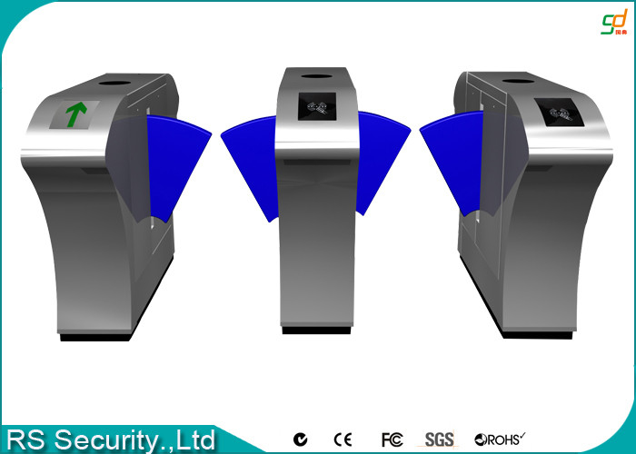 Automatic Retractable Barrier Gate Turnstile, Mifare Flap Barrier Gate Turnstiles