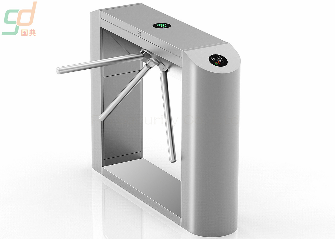 Stainless Steel Waist Height Turnstiles Bi-directional Pedestrian Gate