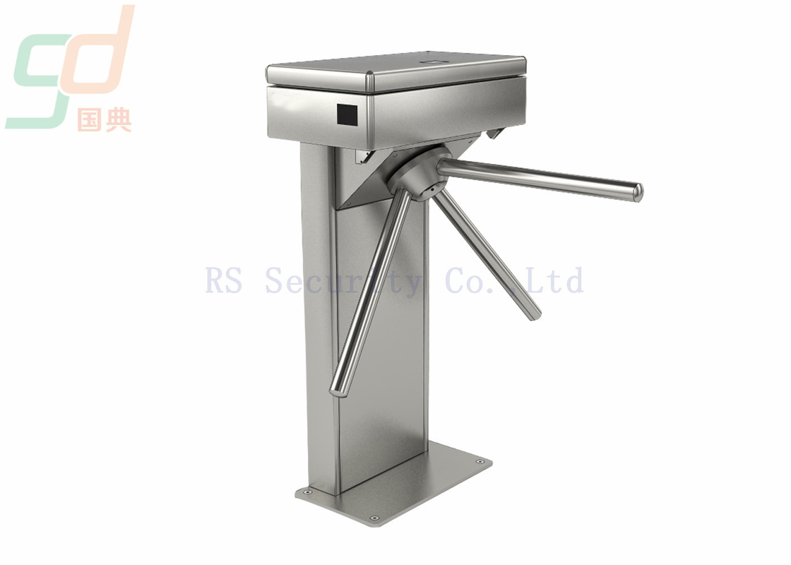 Secured Tripod Turnstile Gate Controlled Access 304 Stainless Steel