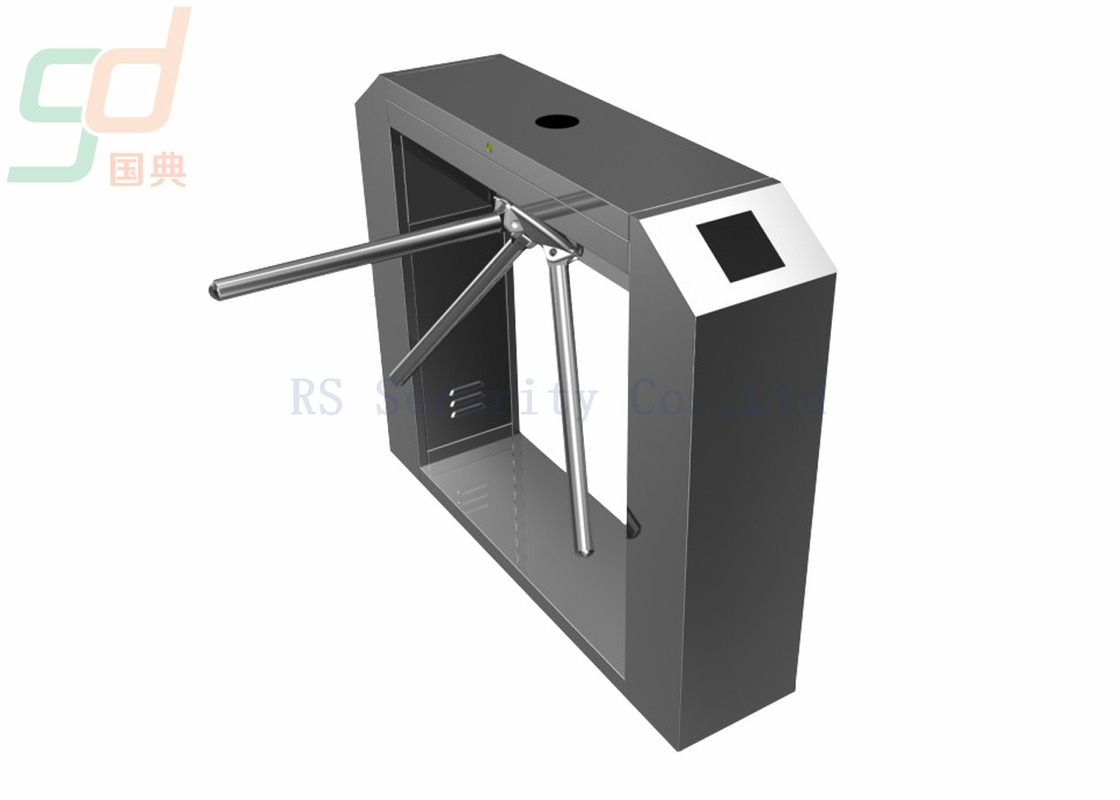 Fingerprint IR Sensor Tripod Turnstile Gate With Stainless Steel Casing Gate