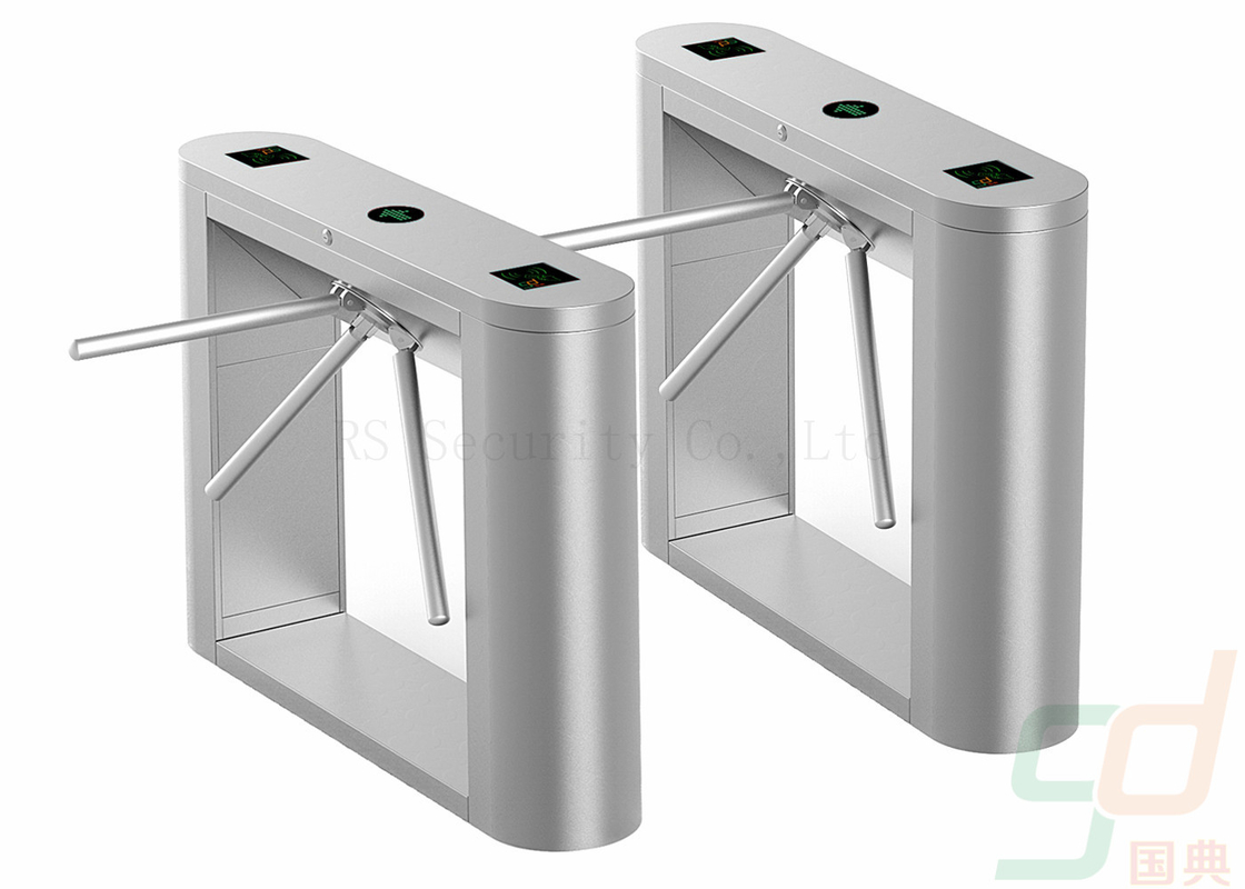 Stainless Steel Tripod Turnstile Security Systems, Data Entry Waist Height Turnstiles