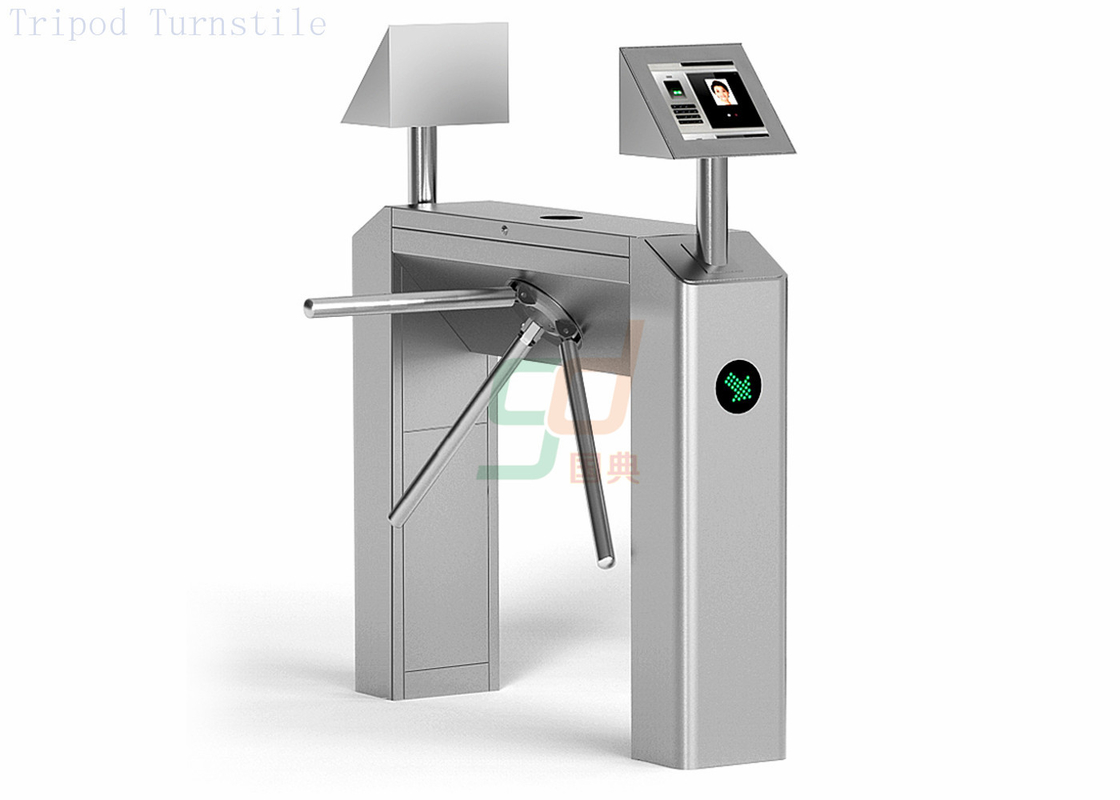 Full Automatic Tripod Turnstile Security Systems, Biometric Drop Arm Barrier Turnstiles