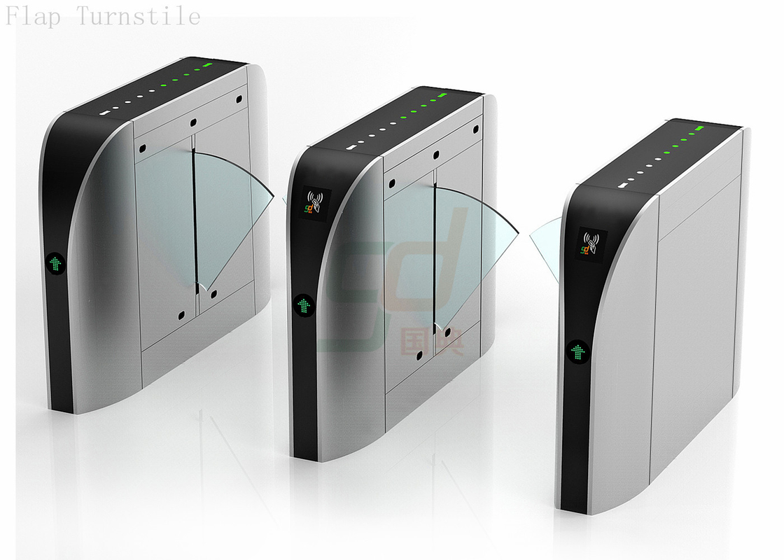 Security Automatic Turnstiles , Controlled Access Turnstiles Flap Gate System