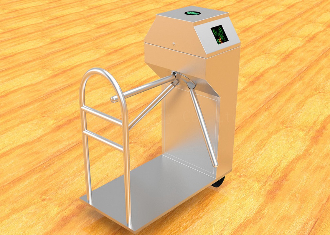 Waterproof Automatic Turnstiles / Vertical Half Height Tripod Barrier Gate