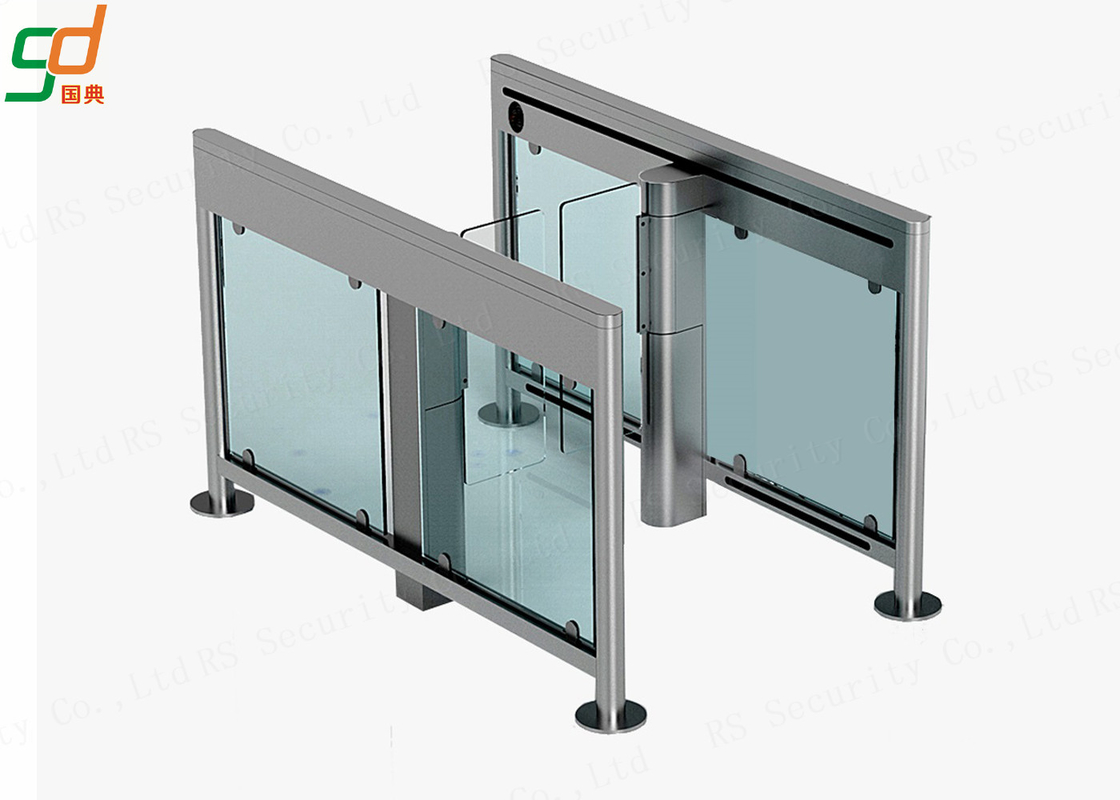 Slim Swing Gates Bi Directional Automatic Turnstiles Optical Barrier System