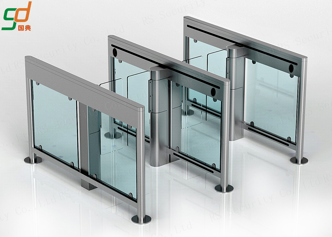 Slim Supermarket Swing Gate Barriers,Servo Motor Driver Turnstile Solution