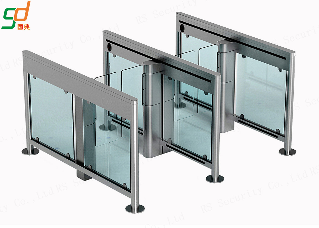 Stainless Steel Swing Barrier Gate IR Sensor Pedestrian Access Turnstiles