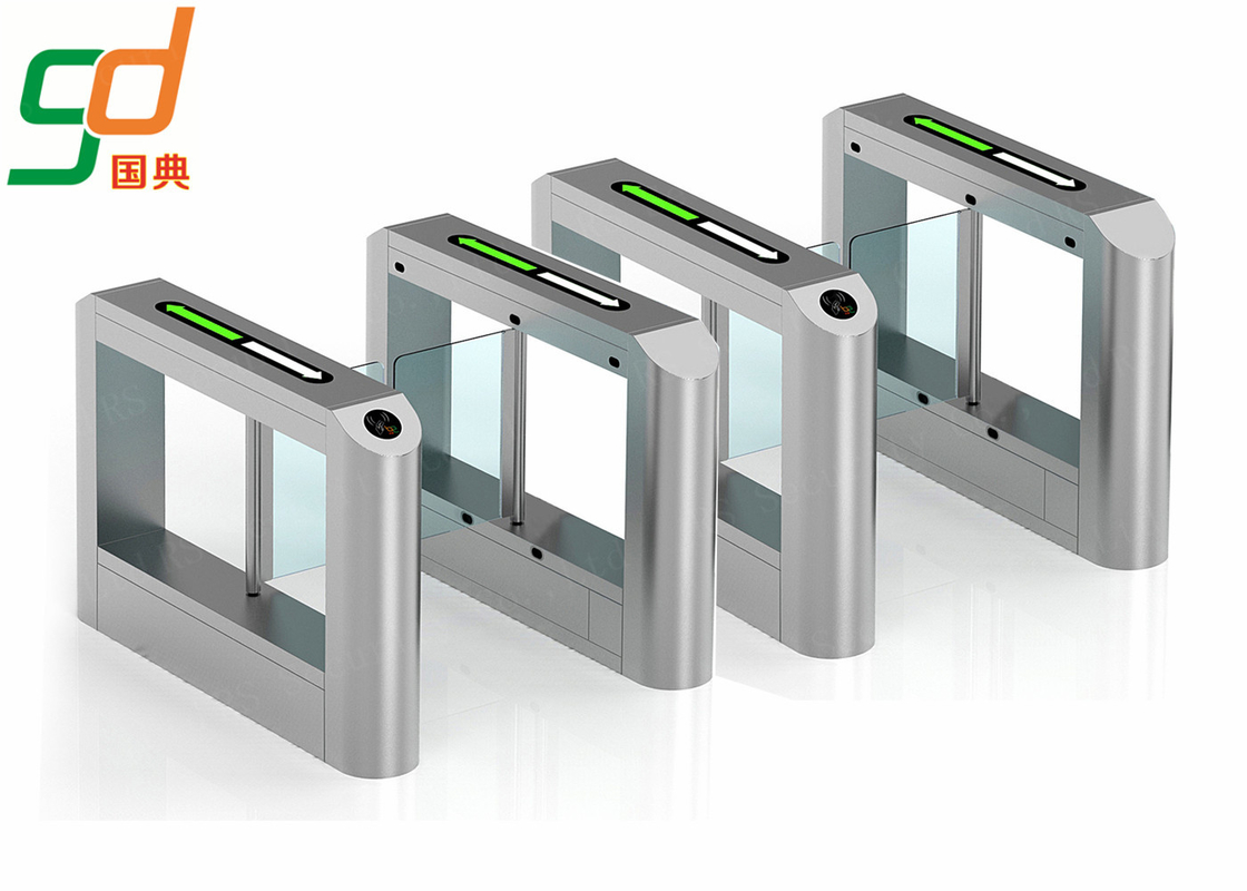 RFID Card Reader Swing Barrier Gate, Glass Gates Access Control Turnstile