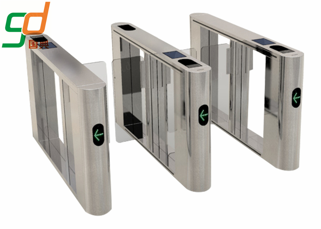 Pedestrian Swing Barrier Gate, Access Control Fastlane Turnstile Barrier
