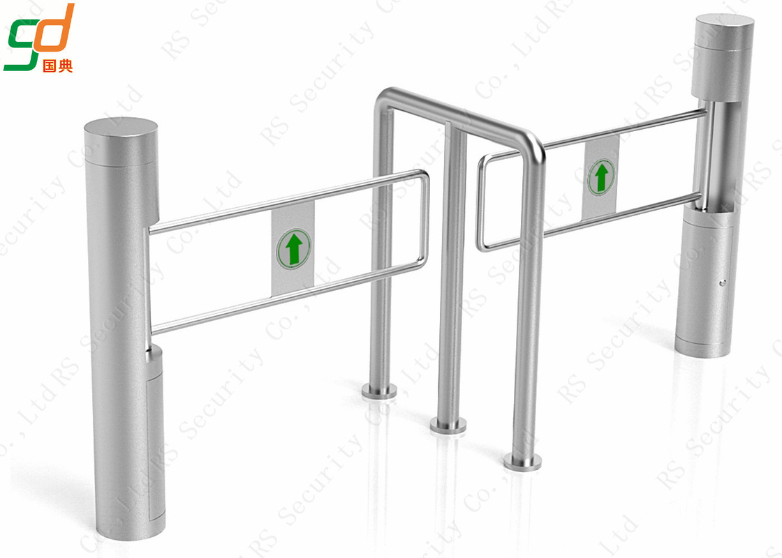 Supermarket Automatic Turnstile Enter And Exit Access Control Swing Gates