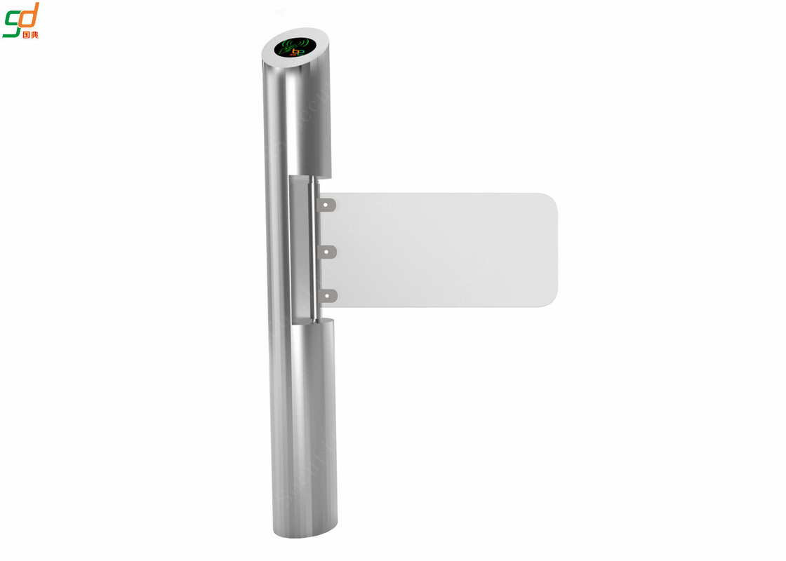 CE Awarded Cylinder Swing Barrier Gate , OEM Automatic Supermarket Turnstiles