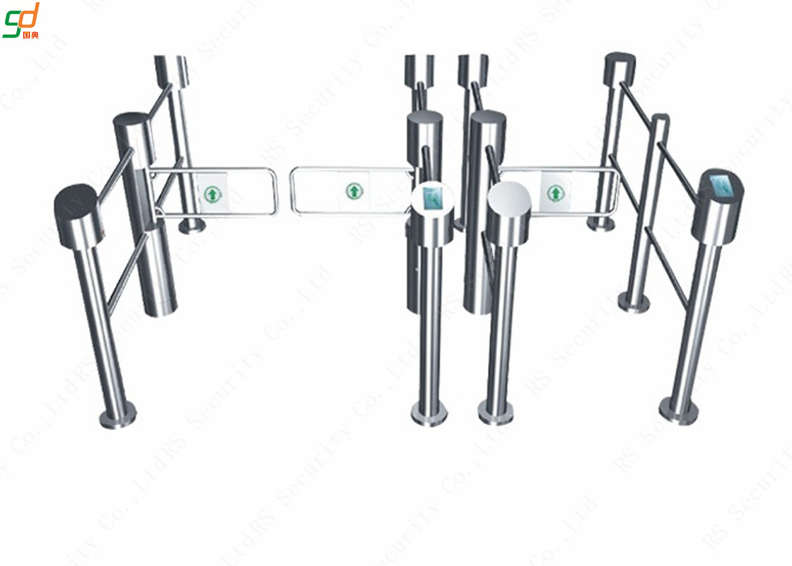 Pedestrian Control System Swing Barrier Gate Disabled Turnstiles Indoor Outdoor