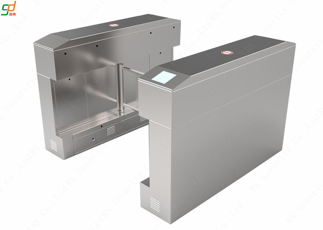 316 Stainless Steel Swing Barrier IR Sensor Control Waterproof Turnstiles