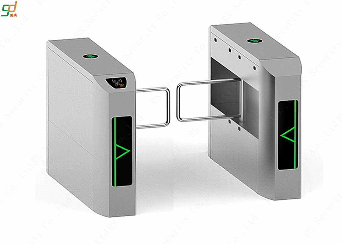 2.0 mm Thicness Intelligent Security Swing Barrier Gate Access Turnstiles
