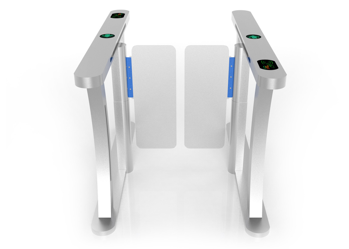 Stainless Steel Swing Barrier Gate With RFID Reader , Double Swing Gate