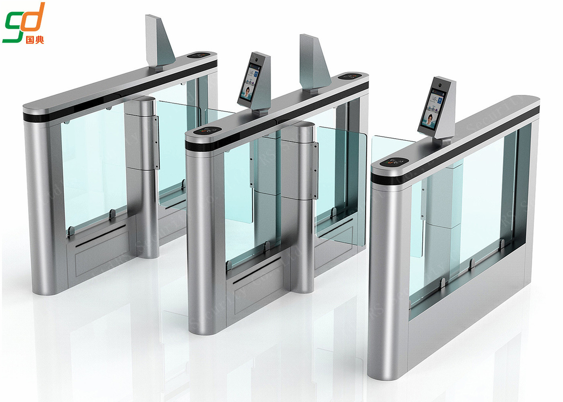 Face Detect Supermarket Swing Gate,Servo Motor Fast Speed Gates Turnstile