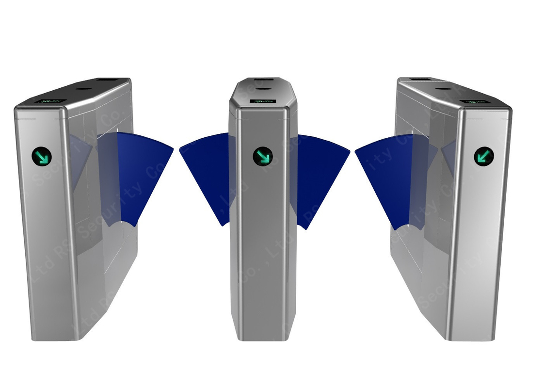 Biometric Attendance Flap Barrier Gate Flap Turnstiles Mechanism