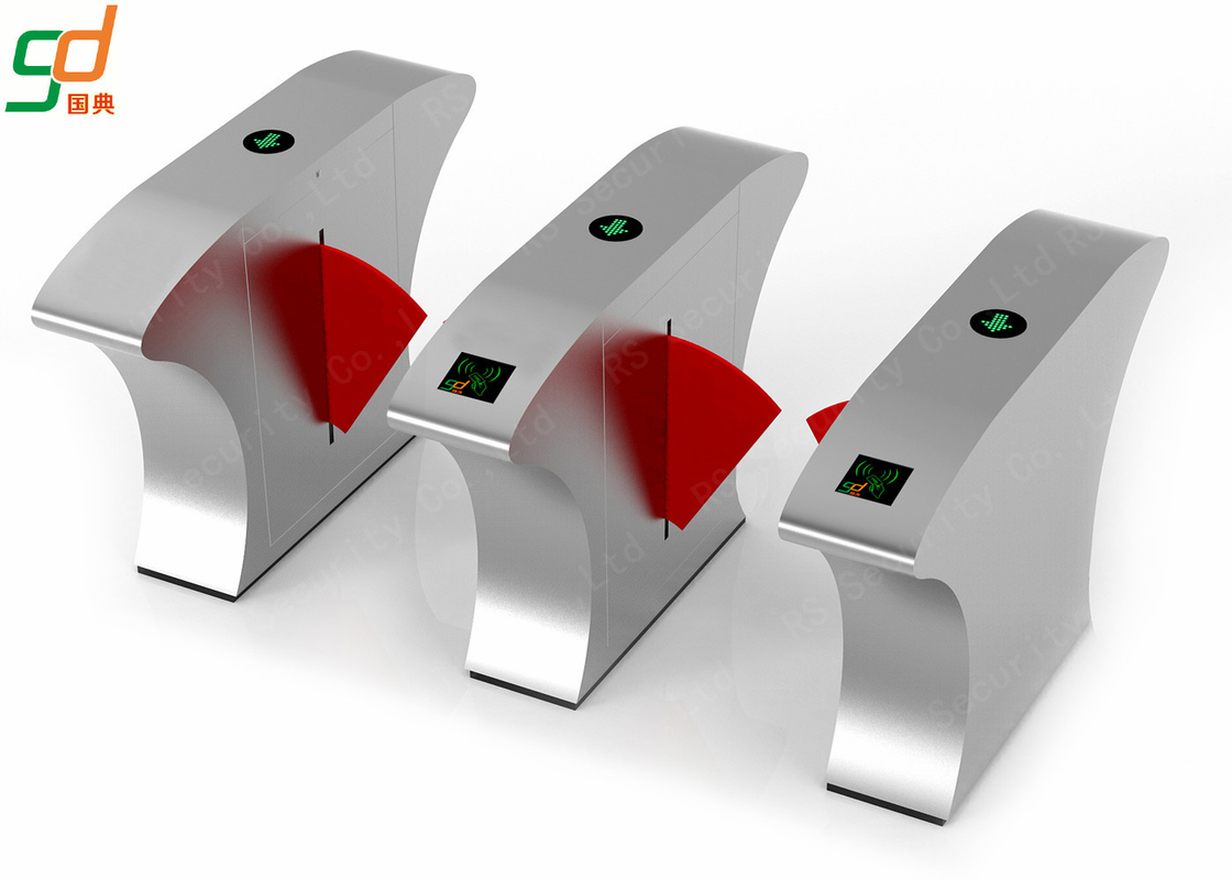 Anti-collision Flap Barrier Gate Club Hotel Turnstile Security Gate System