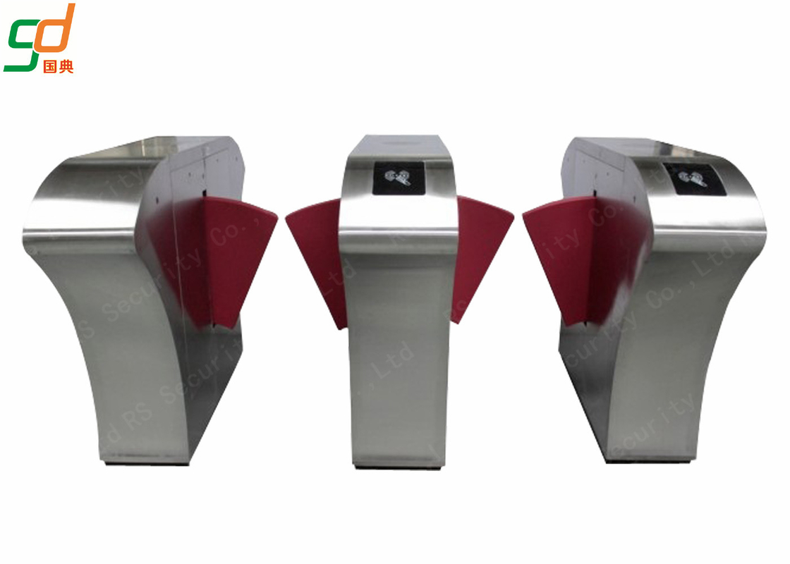 RFID Flap Barrier Gate Turnstiles, Automatic Access Control Turnstile Optical