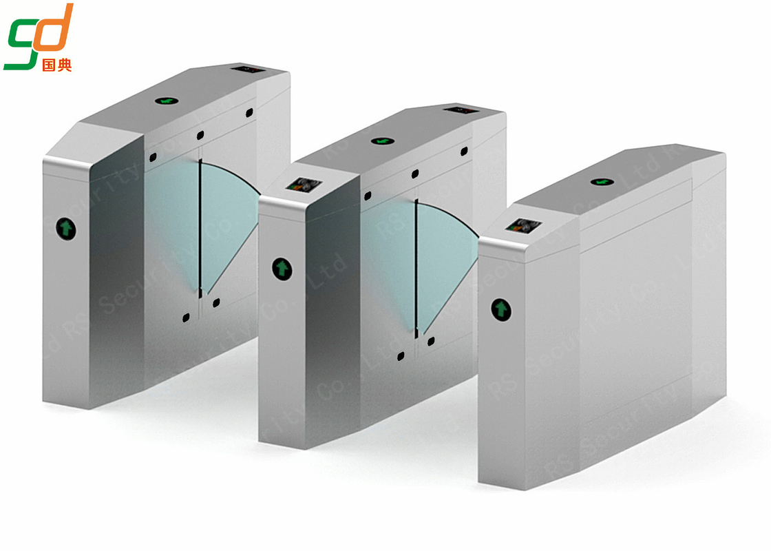 Subway Flap Barrier Gate RS 485 Intelligent Turnstile Gate System