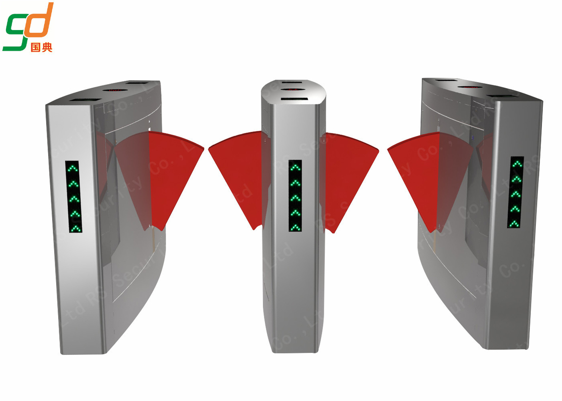 Stainless Steel Architectural Flap Barrier Turnstile Half Height For Security