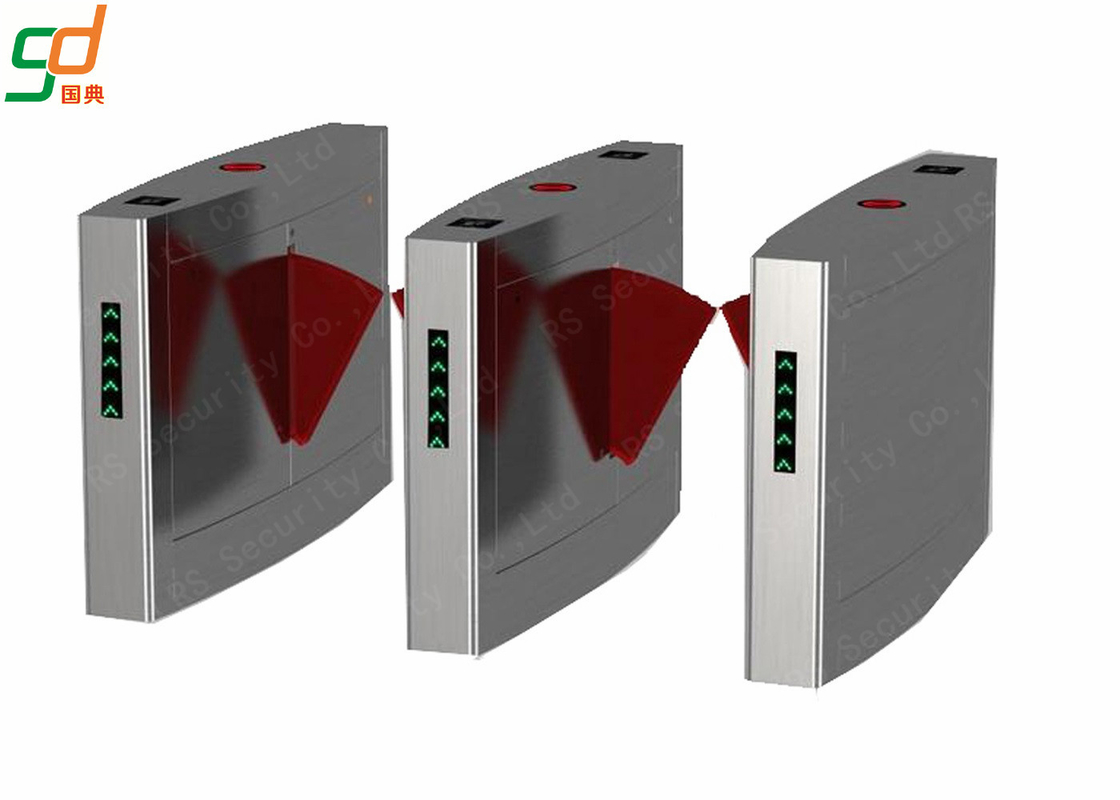 Security Controlled Access Turnstiles Rfid Card Reader Flap Barrier Gate