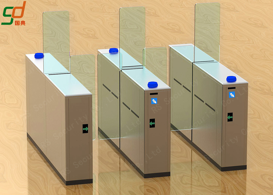 Fast Speed Full Height Sliding Entry Turnstiles Barrier Security Access System