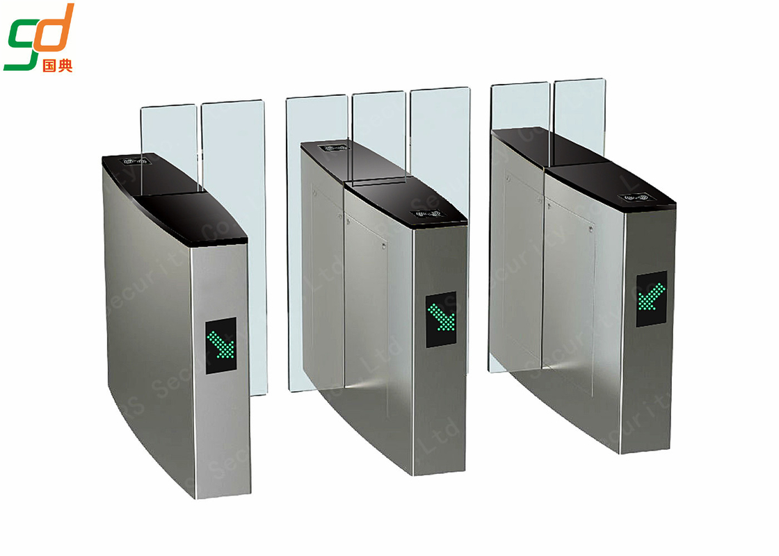 Full Height Sliding Turnstile Speed Gates, Stainless Steel Optical Turnstiles Speedlane