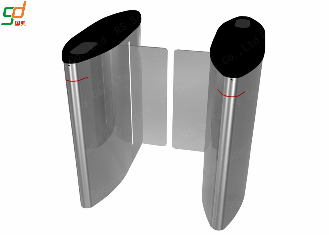 Pedestrian Automatic Speed Gate Turnstile Direction Indication Sliding Barreir