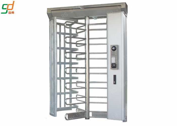 High Security Rotor Full Height Turnstile Gate Card Reader Entrance Barrier