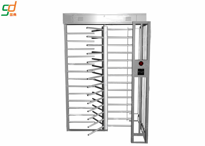 Manual Operation Full Height Turnstiles Double Lanes Automatic Reset