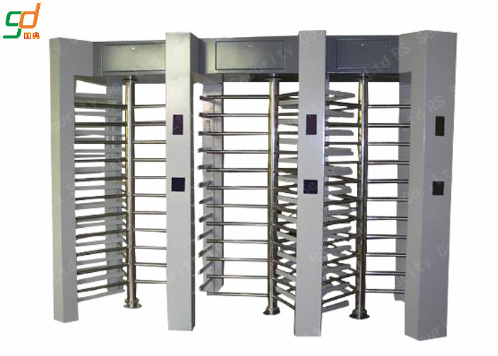 Automatic Waterproof Full Height Turnstile Dual Access Control System