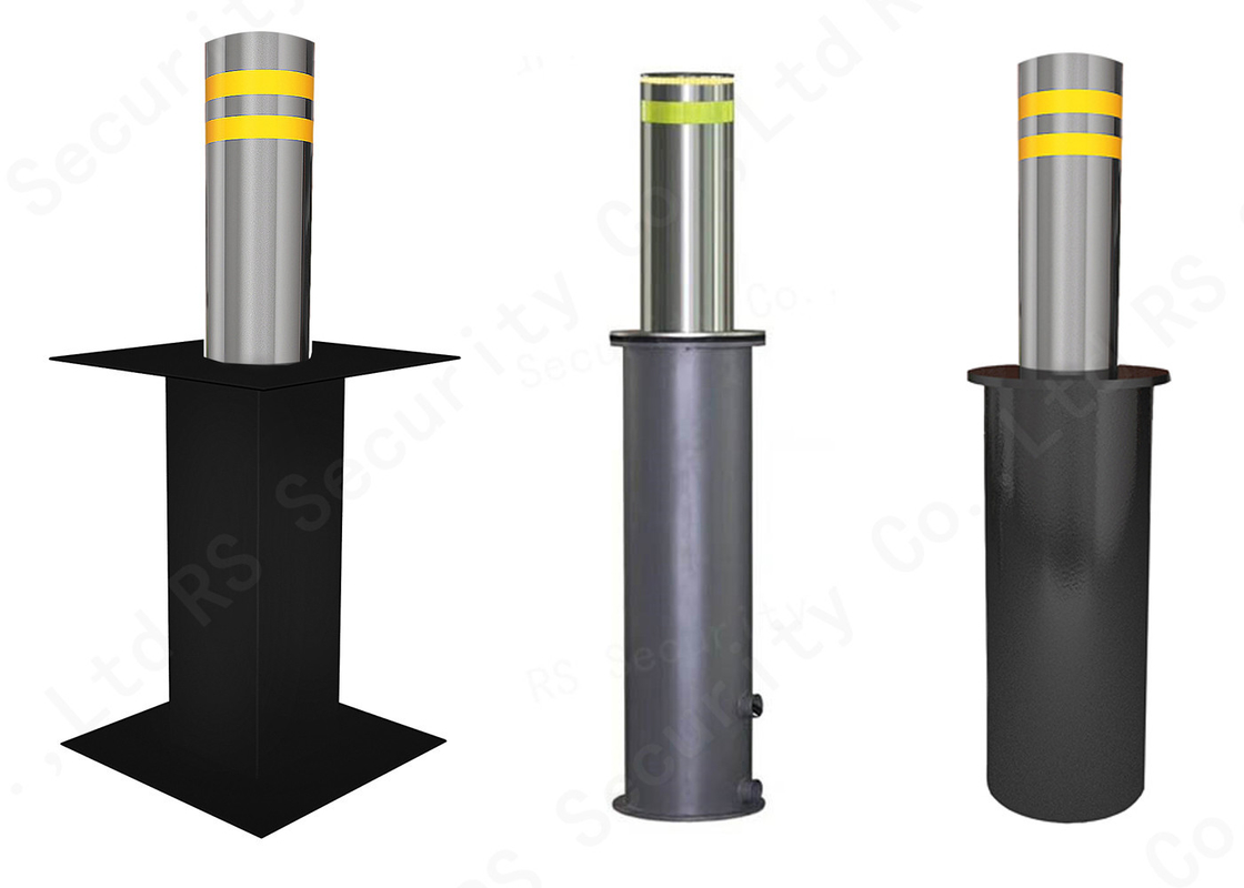 Retractable Oil Hydraulic Bollards For Security / Automatic Parking Bollards