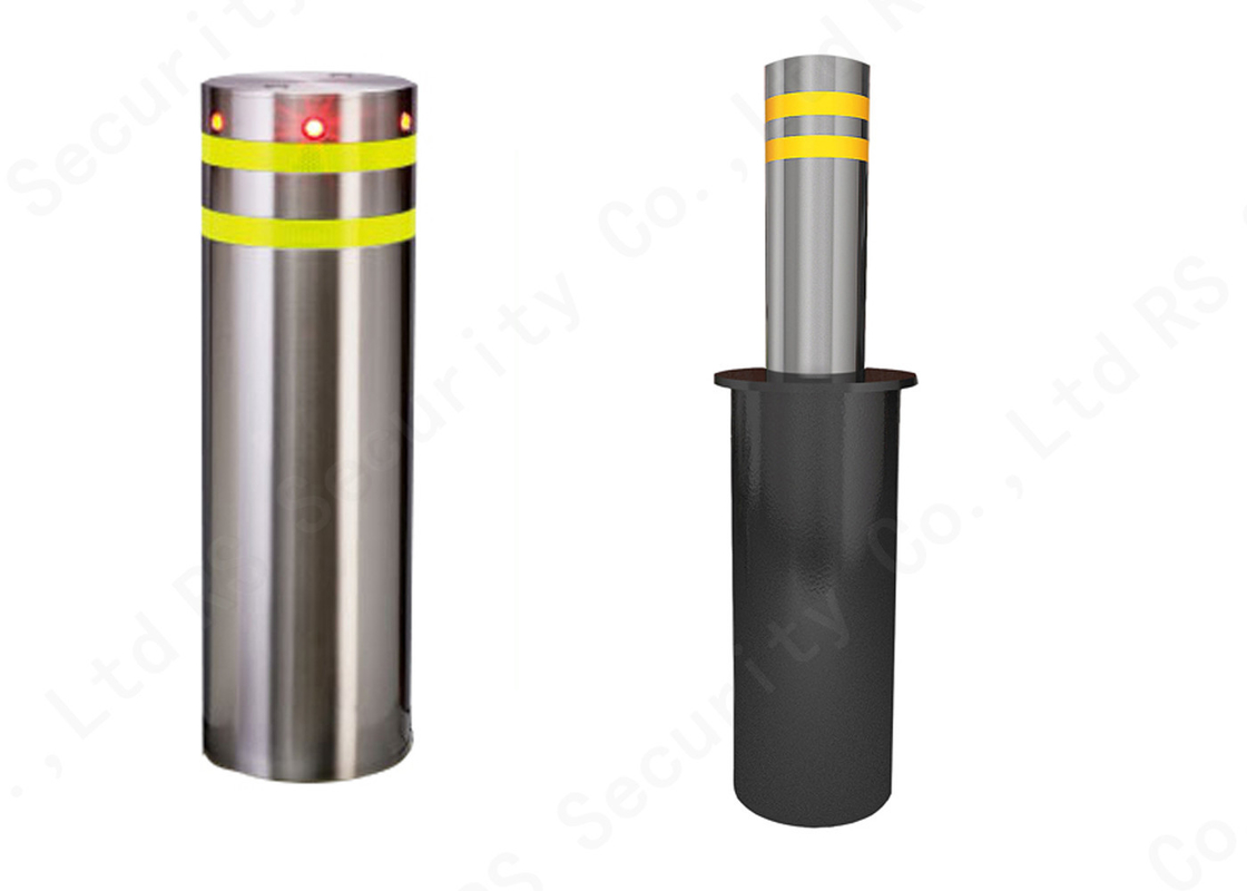 Automatic Fold Down Hydraulic Bollards Electric Retractable Security Bollards