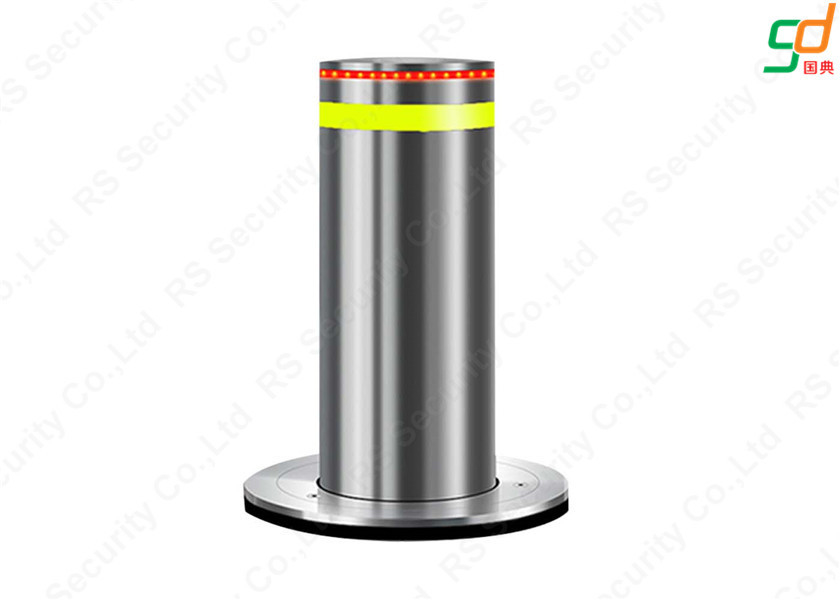 K8 Rated Electrical Hydraulic Bollards Rising Barriers IP68 3-6s Lifting Speed