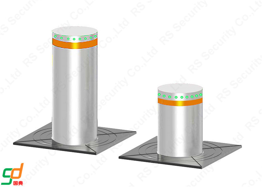 Stainless Steel Hydraulic Security Bollards K4 Rated High Anti Impact Capability